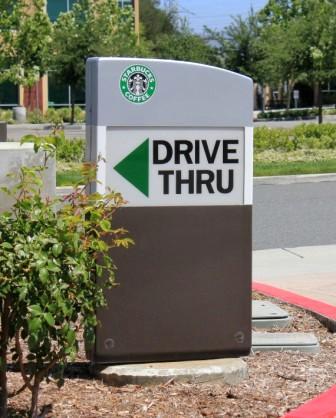 Starbucks-Monument Sign